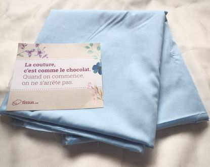 La couture, c'est comme le chocolate. Quand on commence, on ne s'arrête pas! C'est tout à fait ça!  Merci #tissunet ❤ Projet bio bientôt sur le blog! Sewing is like chocolate, when we eat it, we can't stop ! That's so true! By #tissunet  Organic project soon on the blog! #byme #sewing #diy #cousumain #tissubio #organicfabrics #doityourself #sew #coutureaddict #instasewing #sewingpassion #couture